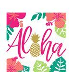 Aloha tropical party paper napkins