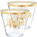Aloha tropical party plastic cups