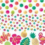 Aloha summer tropical table confetti