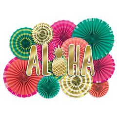 Aloha tropical summer party hanging decorations
