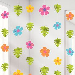 Tropical summer party hanging decorations