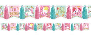 unicorn party glitter tassel garland