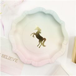 unicorn party paper plates