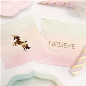 unicorn party paper napkins