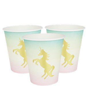 unicorn party paper cups