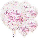 princess party confetti balloons
