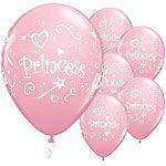 Pink Princess party balloons