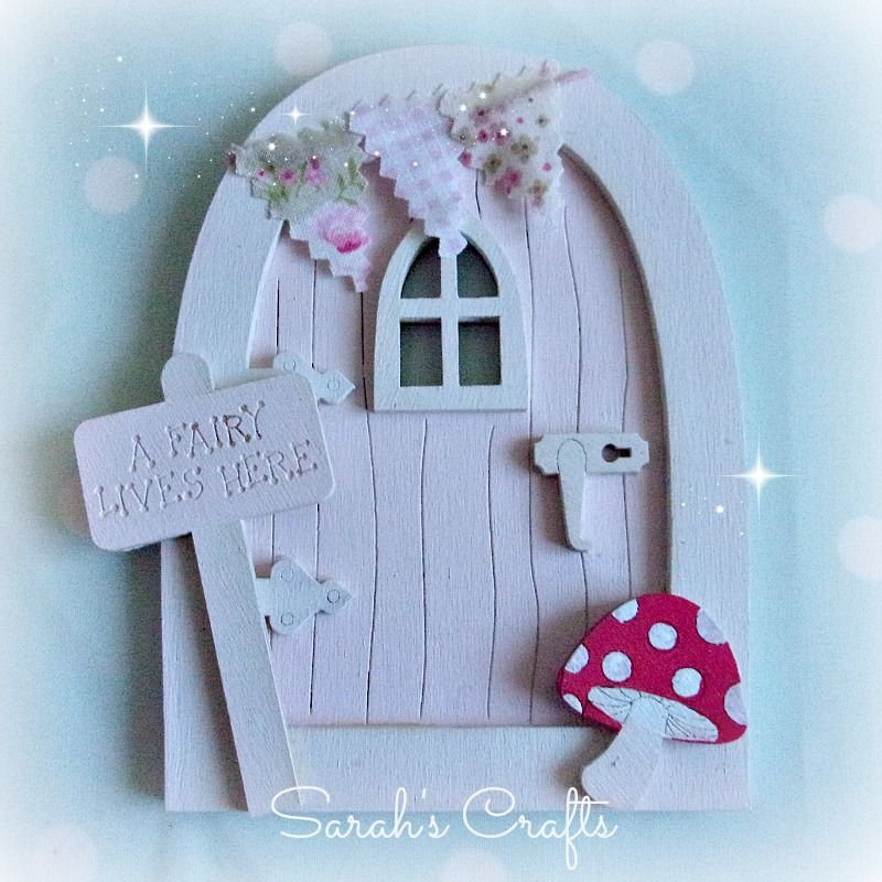 Hand Painted Fairy Door - Pink