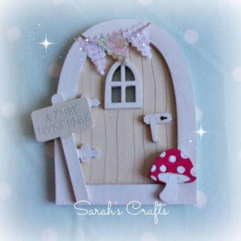 Hand Painted Fairy Door - Buttermilk