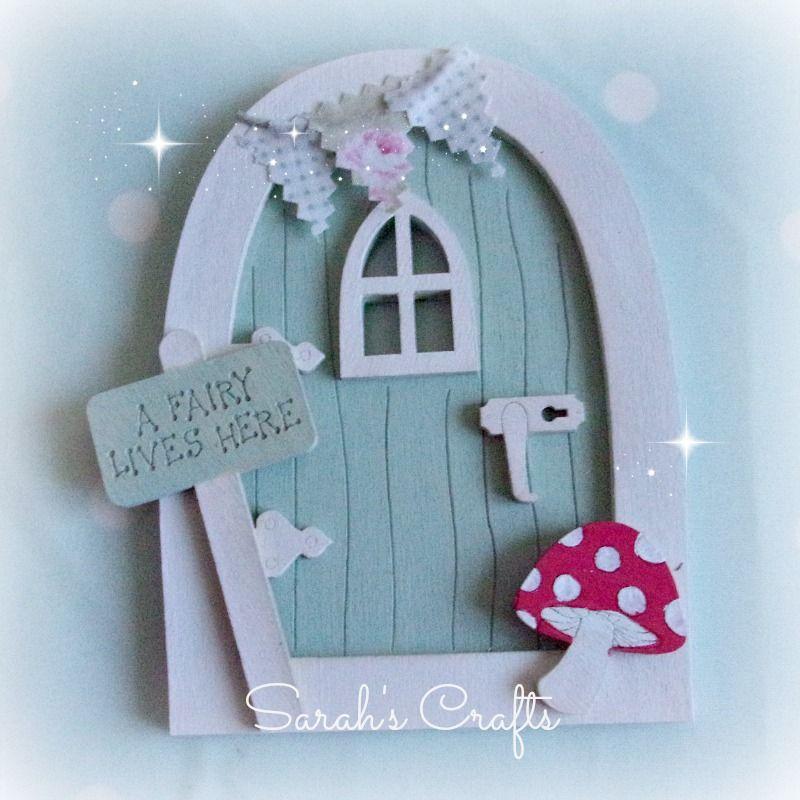 Hand Painted Fairy Door - Seaglass