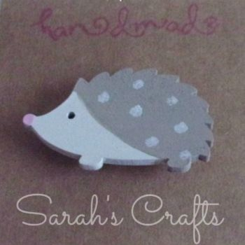 Hand Painted Pin Brooch - Hedgehog