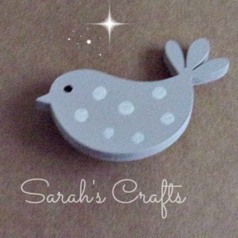 Hand Painted Pin Brooch - Bird (Dove Grey)