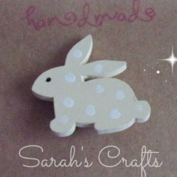 Hand Painted Pin Brooch - Bunny (Buttermilk)