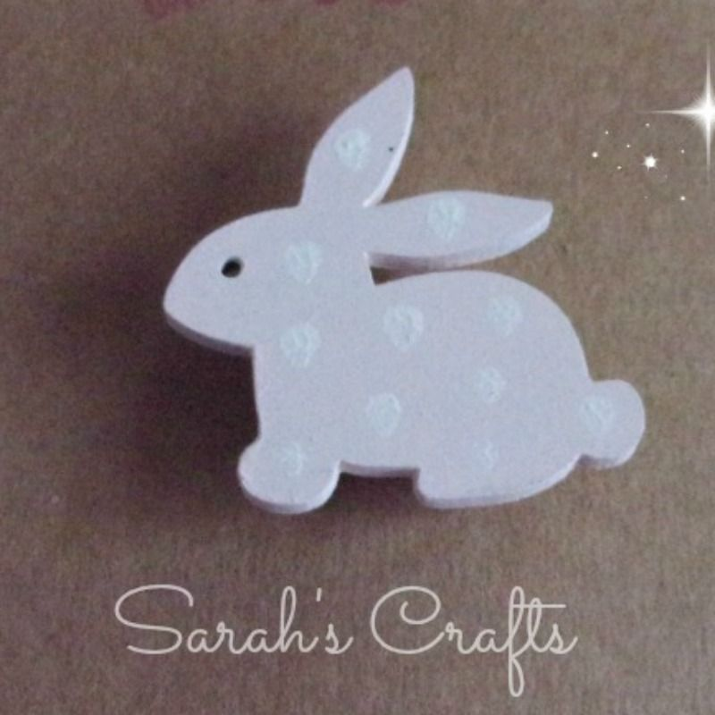 Hand Painted Pin Brooch - Bunny (Pink)