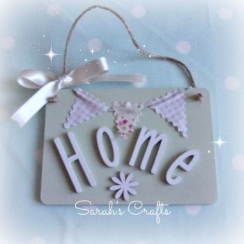 Hand Painted Plaque - Home