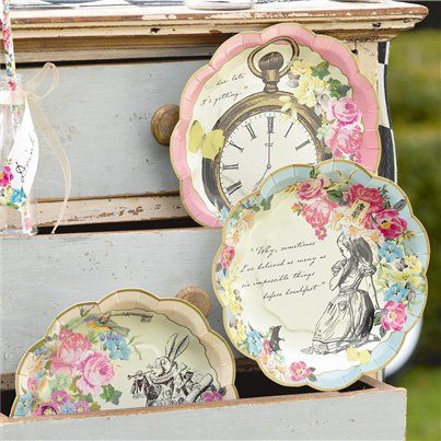 Truly Alice Plates - 17cm Paper Party Plates