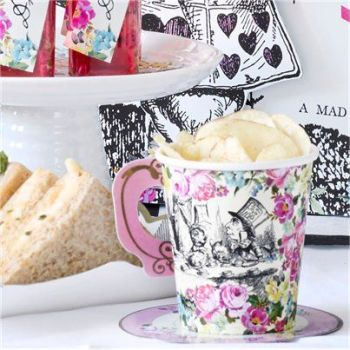 Truly Alice Cups - Paper Party Cups with Saucers