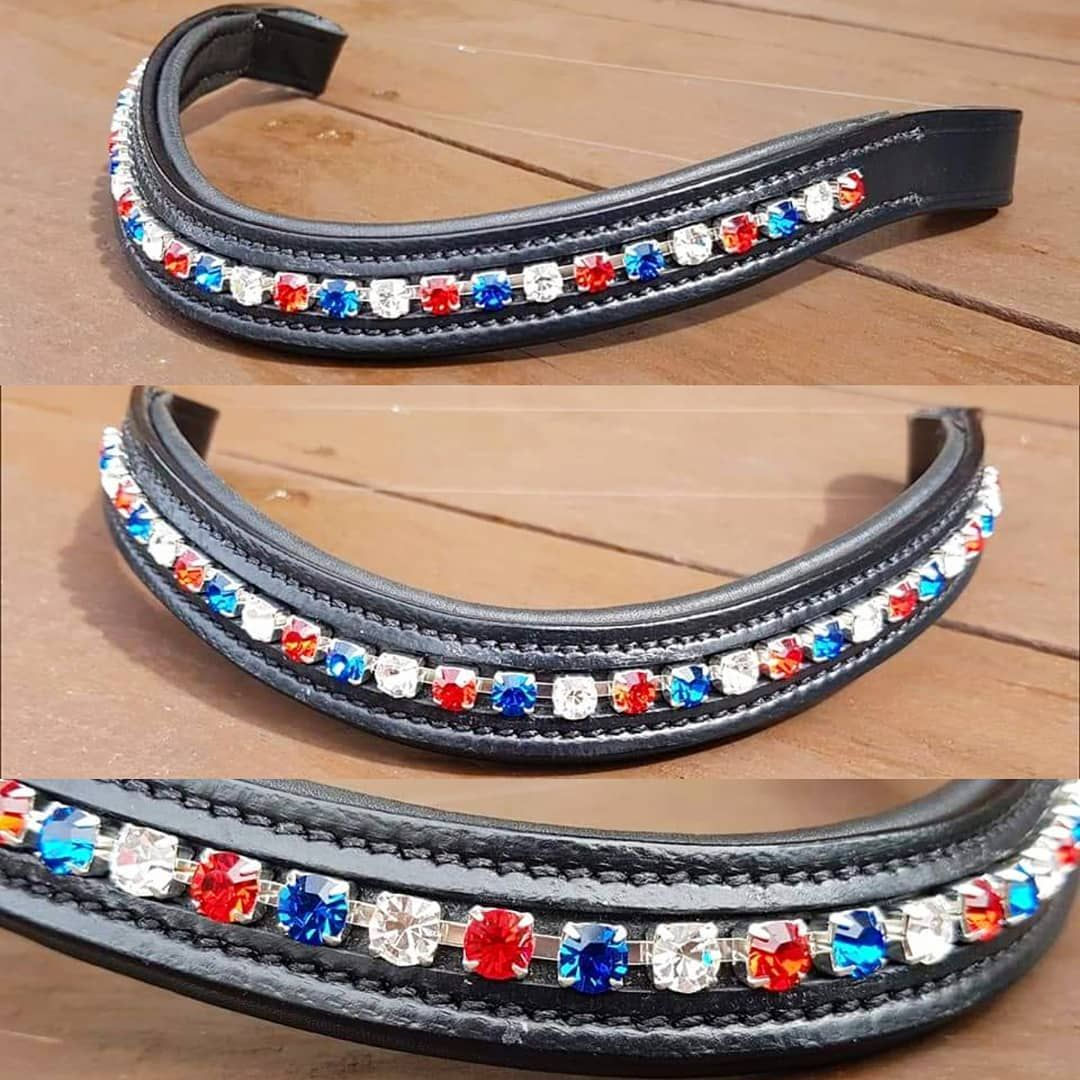 Bespoke Open Chain Crystal channel Browband