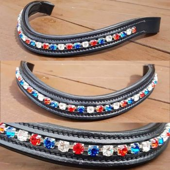 Micklem Fit Bespoke Open Chain Crystal channel Browband