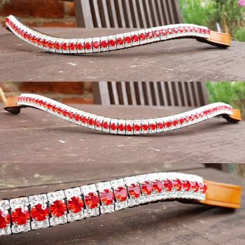 Siam Red & Crystal Browband > 50% off - COB