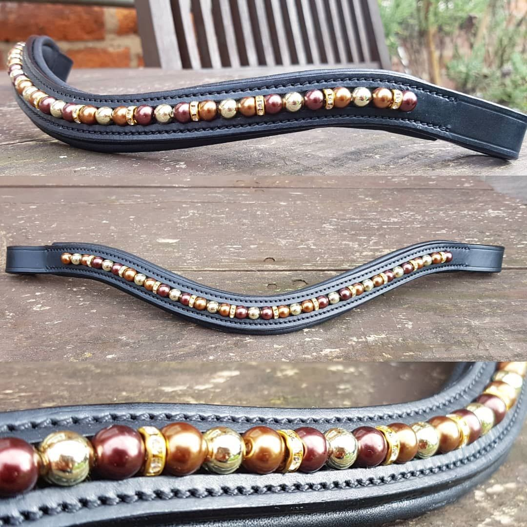 Autumn Delight Beaded Browband
