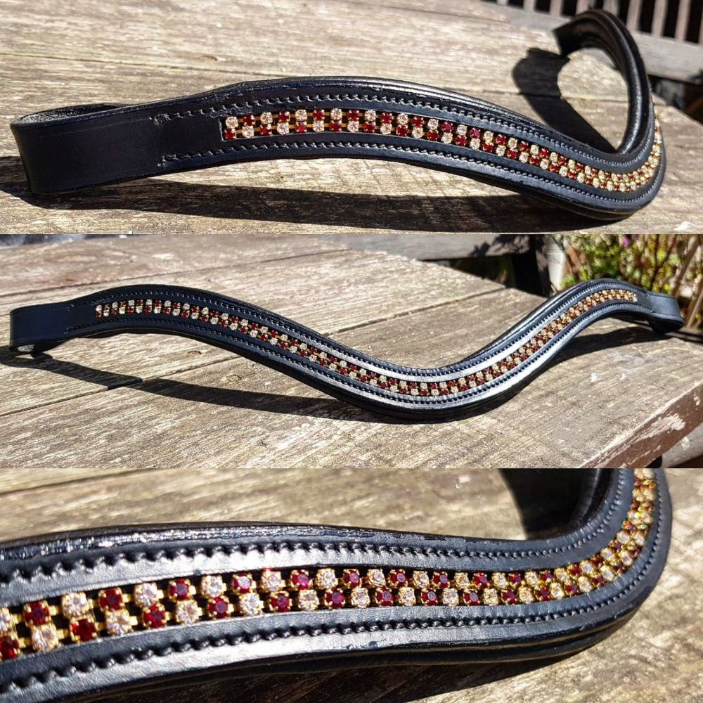Bespoke Double Row Channel Browband
