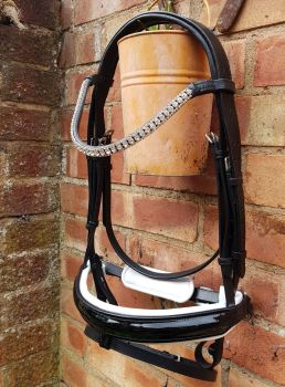 Equitique Delicate Bridle - White padded