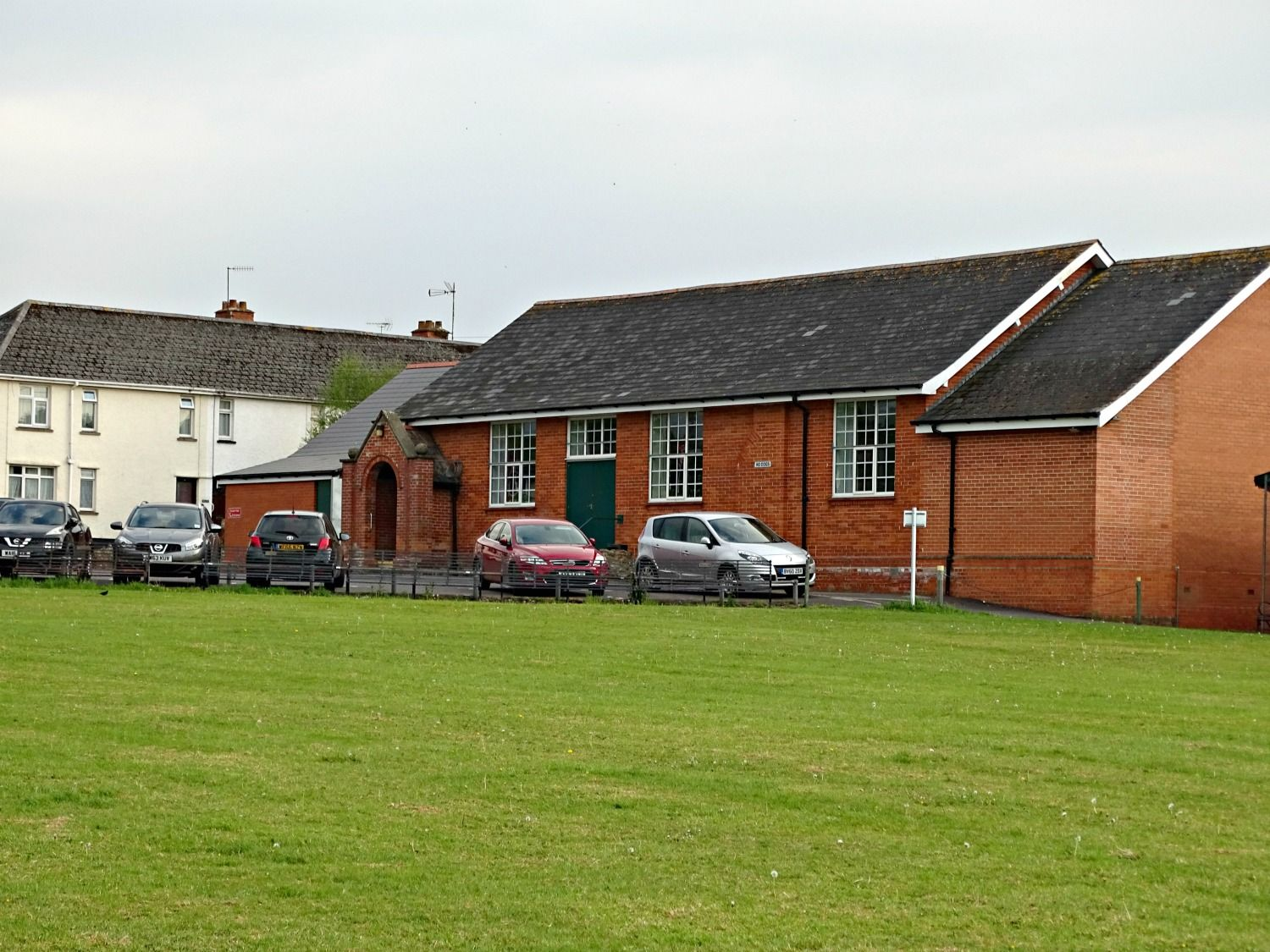 Outside of village hall