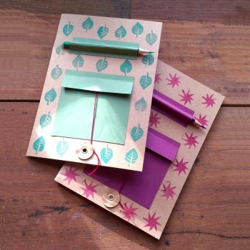 (1) 11th APRIL (THURS) Kids printing and customising a notebook at PENHEIN GLAMPING