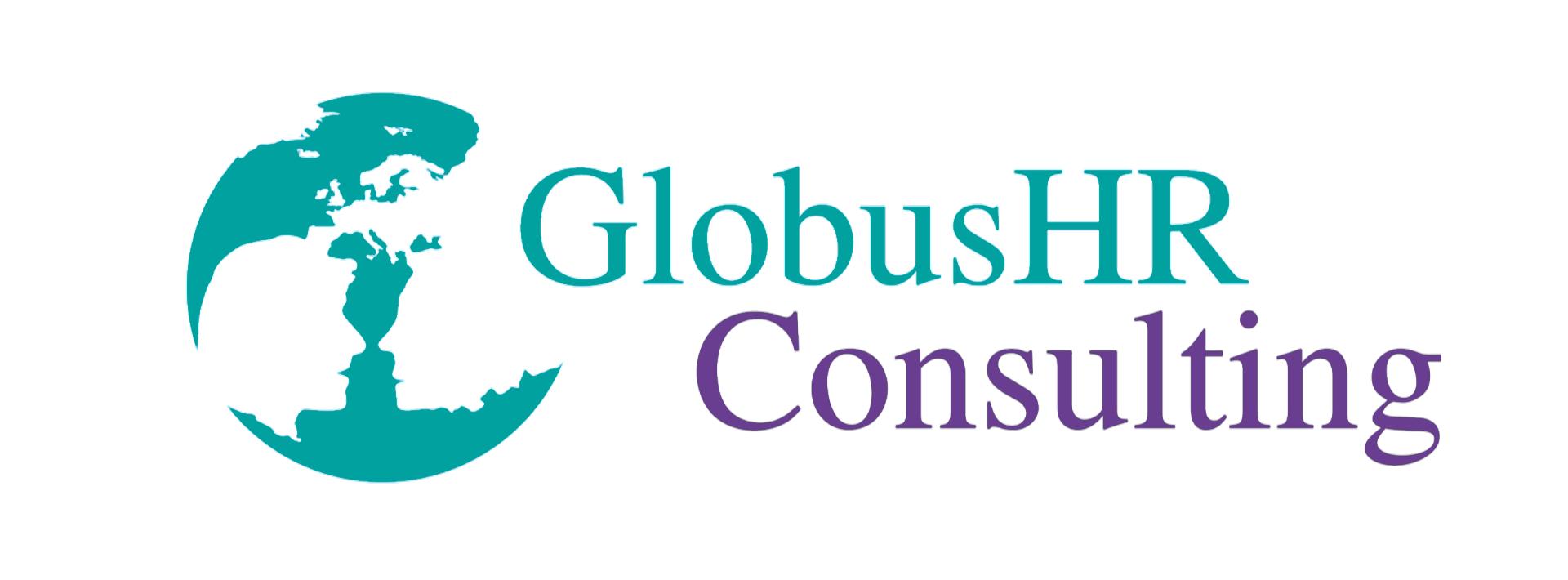 Globus HR logo new colours white