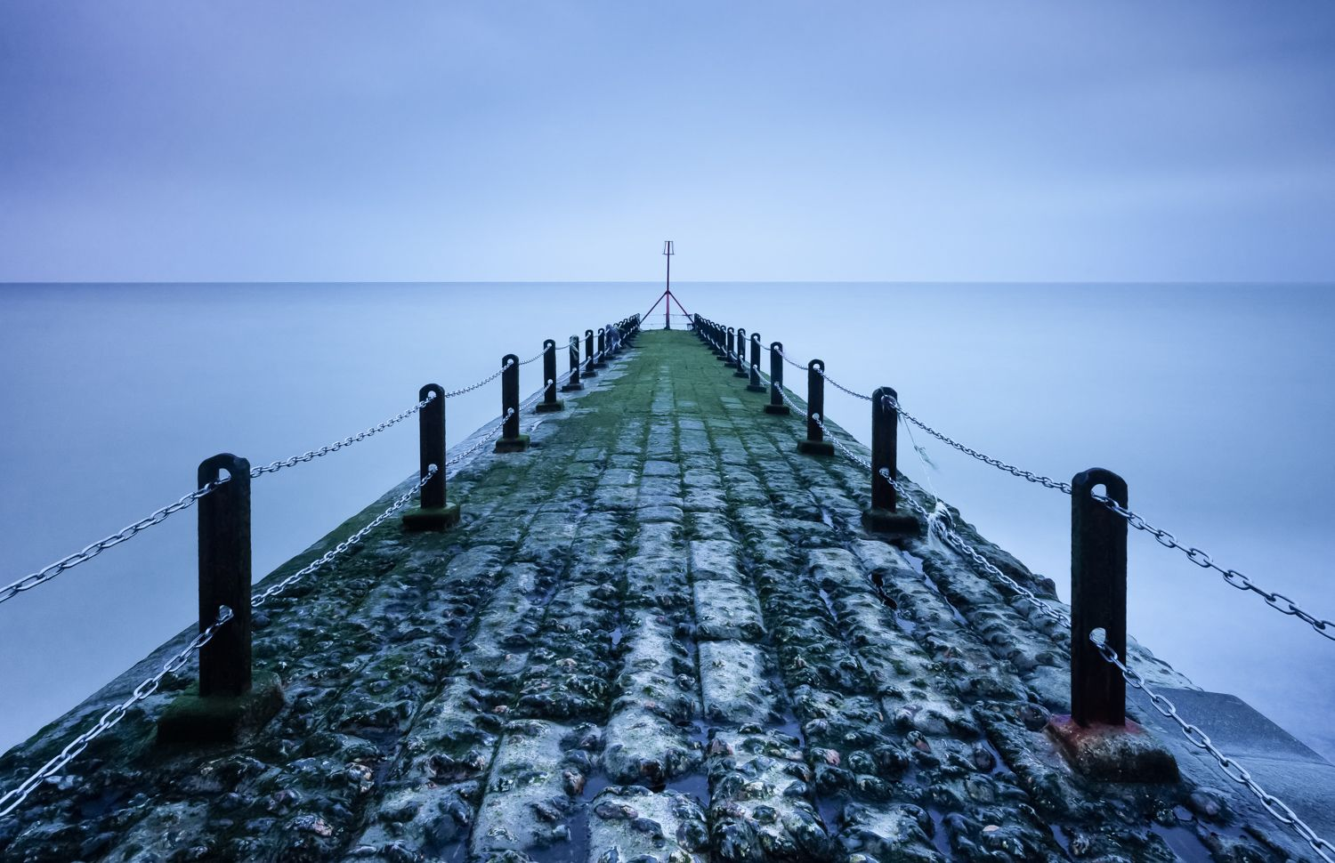 rainy jetty in brighton
