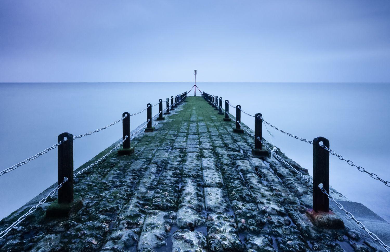 rainy jetty in brighton