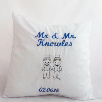 Mr & Mr Wedding Cushion