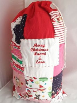 Keepsake Christmas Santa sack