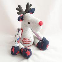 <!--003-->Christmas keepsake Rudolph teddy