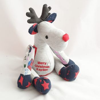 Christmas keepsake Rudolph teddy
