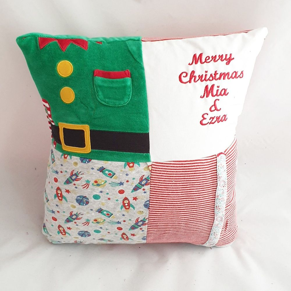 Patchwork Christmas cushion