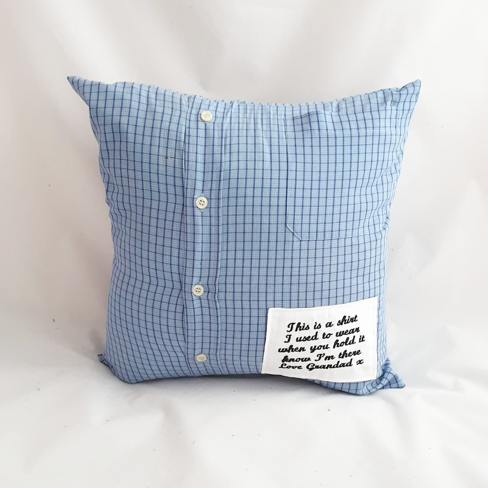 memory cushion made from shirt