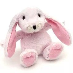 Small snuggly bunny baby pink
