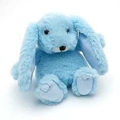 Small snuggly bunny blue