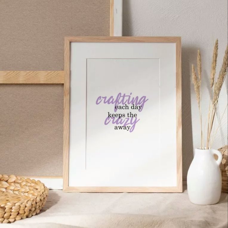 Crafting each day print