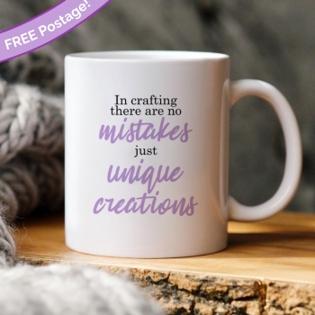 In crafting there are no mistakes mug