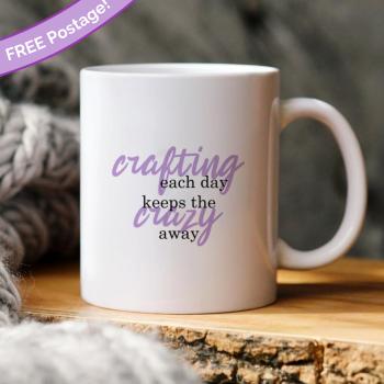 Crafting each day mug