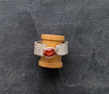 Orange sapphire ring. SALE