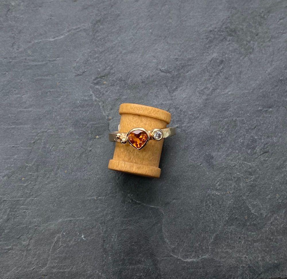 Garnet and Diamond ring.