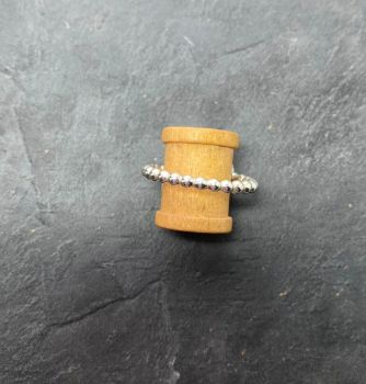 Silver large bead ring.