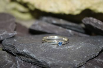 Sapphire, silver ring.