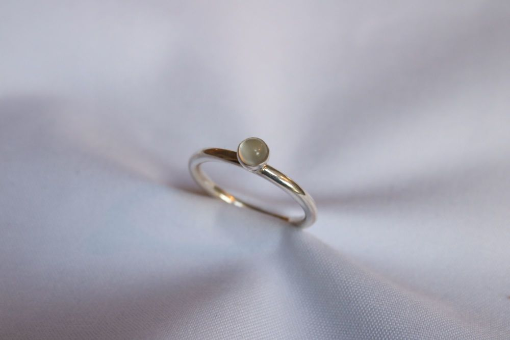 Moonstone, silver ring