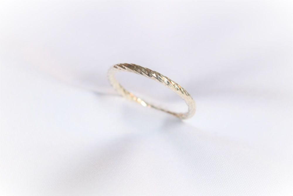 Silver weave ring.