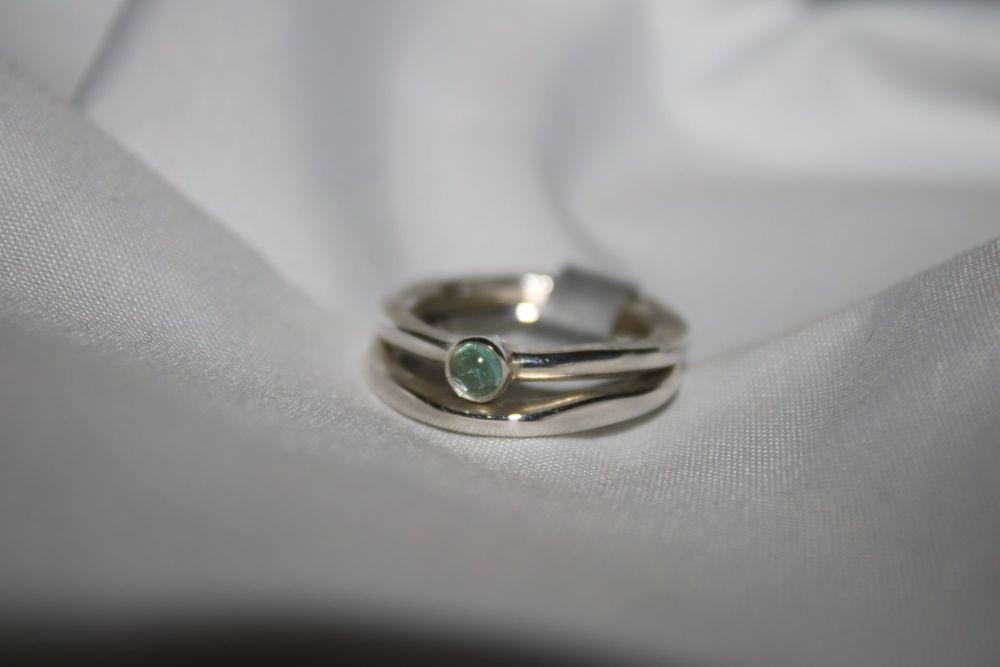 Blue tourmaline rings